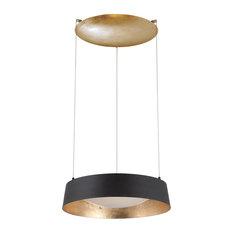 Modern Forms Gilt LED Chandelier, Gold Leaf