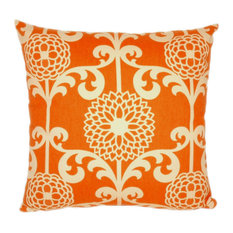 Fun Floret Square Polyfill Insert Throw Pillow With Cover, Citrus, 20x20