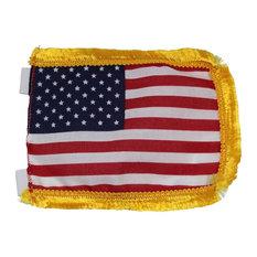 "Us Flag Cotton Gold Fringe 4 1/2"""
