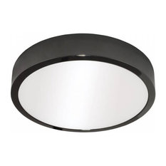 Kaju Flush-Mount LED Ceiling Light, Graphite, Round
