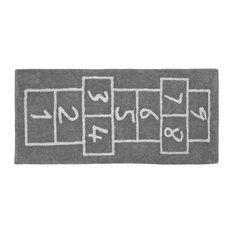 Hopscotch Children's Rug, Grey, 90x200 cm
