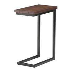 Simpli Home Ltd. - Skyler Solid Mango Wood C Side Table With Metal Base - Side Tables & End Tables