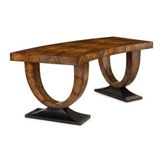 John Richard - John Richard Curved Walnut Desk EUR-02-0185 - Desks and