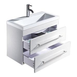 Emotion Mars 700 Bathroom Furniture, White High-Gloss, 70 cm, White High-Gloss