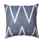 "Bali Mandarin 18"" Throw Pillow, Navy"