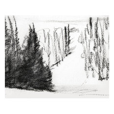 'Decending Snow' Charcoal on Paper by Ann Rea