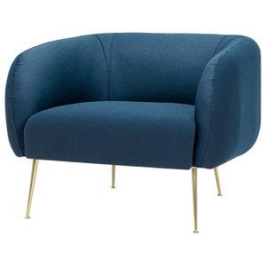 Elena Modern Classic Upholstered Velvet Living Room Barrel
