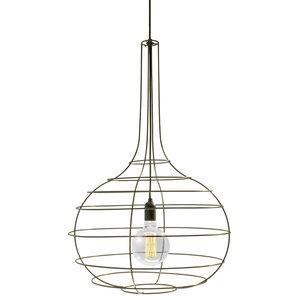 Globo Pendant Lamp, Black Cable, Large