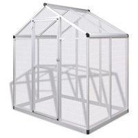 vidaXL Outdoor Aviary Aluminium Bird Small Animals House Cage Habitat Box