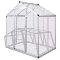 vidaXL Outdoor Aviary Aluminium Bird Small Animals House Cage Habitat Box