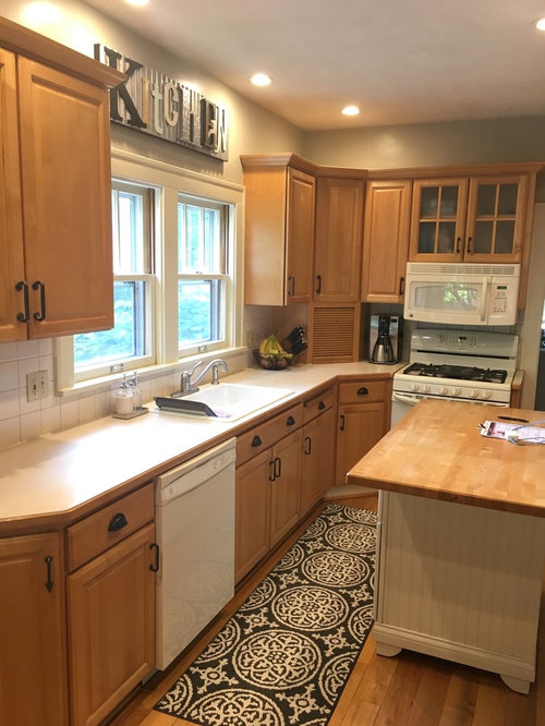 Kitchen Remodel Without Painting Cabinets