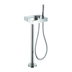 Axor 5.75 GPM Free Standing Tub Filler, Polished Chrome