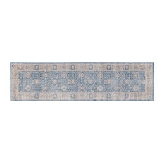 Parma Grey Runner, Light Blue Bone, 55x200 cm