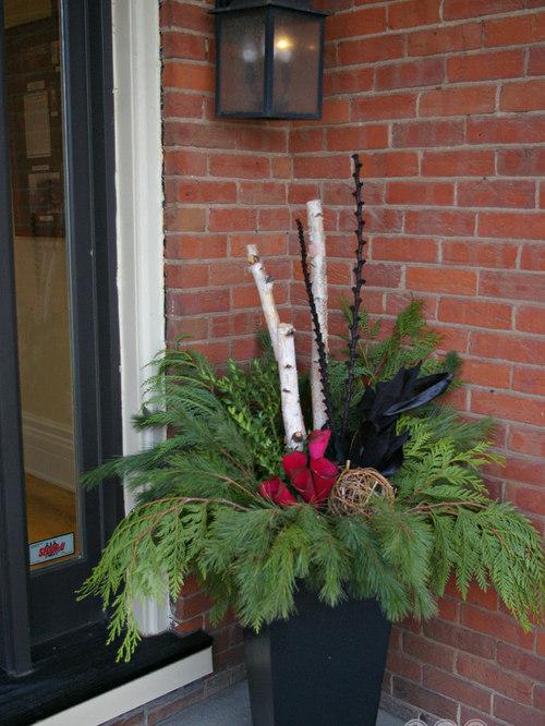 Seasonal Urns Fall/Winter - Outdoor Holiday Decorations