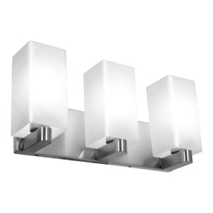 """Archi 18"""" Dimmable LED Wall & Vanity, Brushed Steel Finish, Opal Glass Diffuser"""