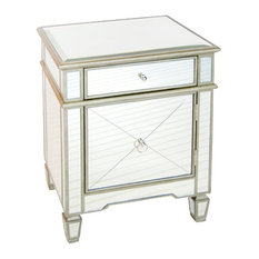 worlds away worlds away claudette mirrored nightstand silver leaf nightstands and bedside tables