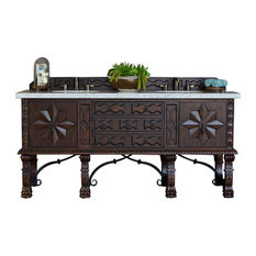 "Balmoral 72"" Double Vanity Cabinet Antique Walnut - Base Cabinet Only"