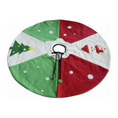 Blancho Bedding - Creative ChristmasDecorations Christmas Snowman Tree Skirt 35'' - Christmas Tree Skirts
