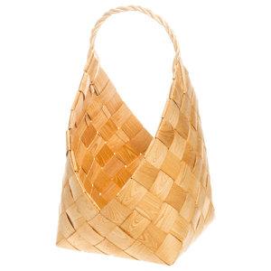Wooden Sauna Basket, Natural, Medium