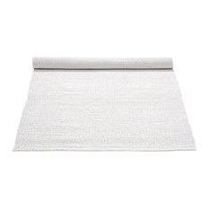 White Recycled Plastic Floor Rug, 75x200 cm