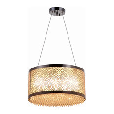 """Bromi Design B8702 Juliano 6 Light 15-3/4"""" Wide Pendant with Crystal Accents"""