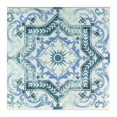 "SomerTile 12.75""x12.75"" Klinker Alcazar Quarry Floor and Wall Tile, Petunia"