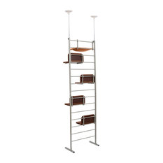 """Pawhut - Pawhut 114"""" Floor-to-Ceiling Adjustable Staggered Climbing Cat Tree Tower - Cat Furniture"""