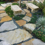 Stepping stone walkway miami florida tropical landscaping for Landscaping rocks fort lauderdale