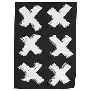 """Cross"" Print Tea Towel by Ylva Skarp, Set of 2"
