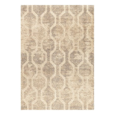 "Orian Rugs - Orian Rugs Majestic Shag Fence Line Silver Area Rug, Ivory,  7'10""x10'10"" - Area Rugs"