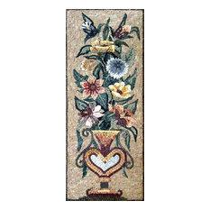 "Flower Marble Mosaic, 18""x48"""