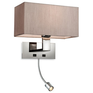 Prince Wall Light With Reading Light, Beige