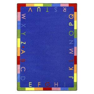 Kid Essentials Rug, Rainbow Alphabet, 3'10