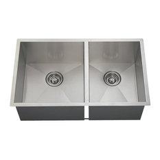 Kitchen Double Rectangular Stainless Steel Sink