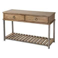 Stein World Beaumont Sofa Table Withered Oak Finish 263-031