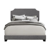 PRI Clipped Corner Upholstered Queen Bed, Stone Gray