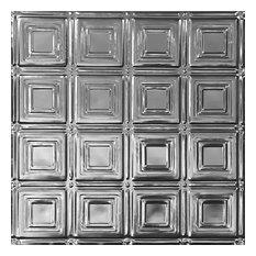 2'x4' Art Deco Tin Ceiling Tile, Set of 10