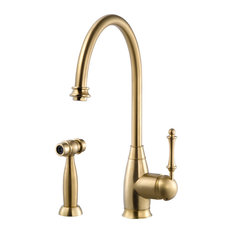 Charlotte Traditional Solid Brass Kitchen Faucet With Sidespray