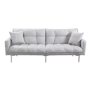 Gdf Studio Heston Vinyl Click Clack Futon Sofa Bed