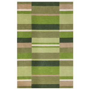 Funky Wool Rug, Moss Blocks, 80x150 cm