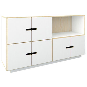 PIX Sideboard, White Film, 3 Cupboards