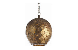 Arteriors Home Osgood Antique Gold Leaf 14'' Wide Pendant Light