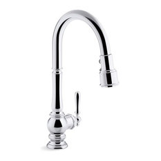 "Kohler Artifacts Kitchen Faucet w/ 17-5/8"" Pull-Down Spout, Polished Chrome"