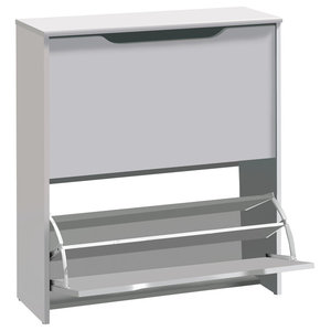 Apilable Shoe Rack, White