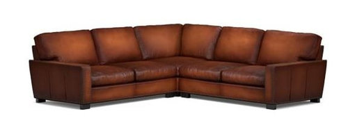 Pottery Barn Turner Leather Sectional