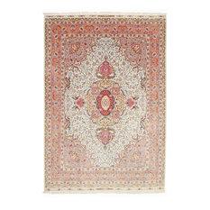 """Tabriz 90Raj Silk Warp Rug Persian Carpet 12'0""""x8'6"""" Hand-Knotted Classic"""