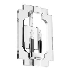 "Quorum Broadway 2-Light 11"" Polished Nickel Wall Sconce"