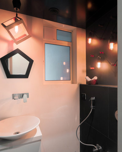 Eclectic Powder Room by Anushka Contractor