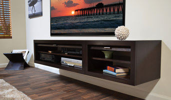 Floating Entertainment Stand - Eco Geo Espresso 2 Piece -