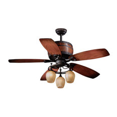 Most popular southwestern ceiling fans for 2018 houzz vaxcel vaxcel lighting cabernet 52 5 blade indoor ceiling fan with reversible motor mozeypictures Image collections